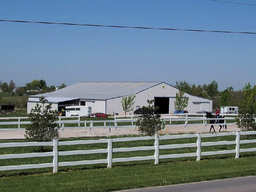 Outside view of Metal Horse Arena