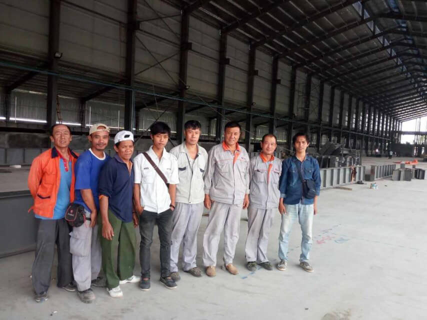 Steel Structure Factory Workshop Installation Team