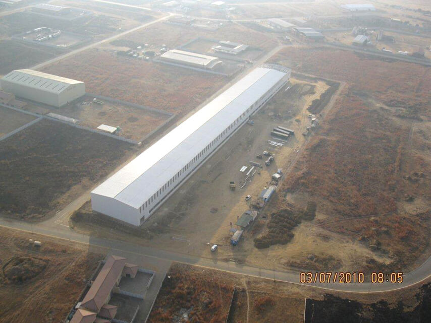 South Africa Heavy-duty Steel Structure Workshop Project