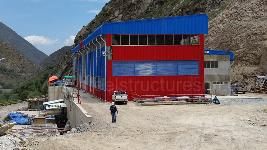 Peru prefabricated steel strcture building for Hydroelectric Power Station