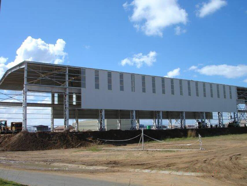 South Africa Heavy-duty Steel Structure Workshop Project cladding
