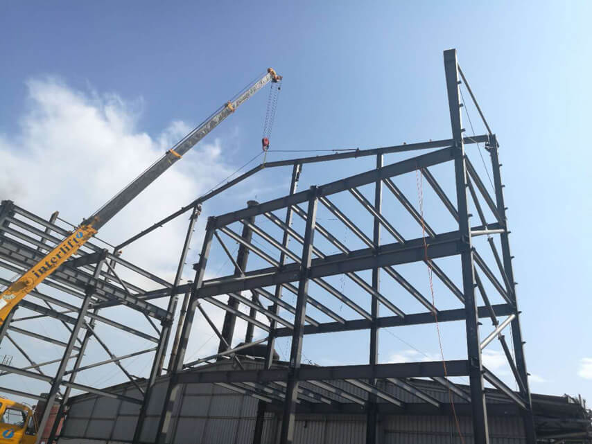 Prefab Steel Frame Structure Factory Construction