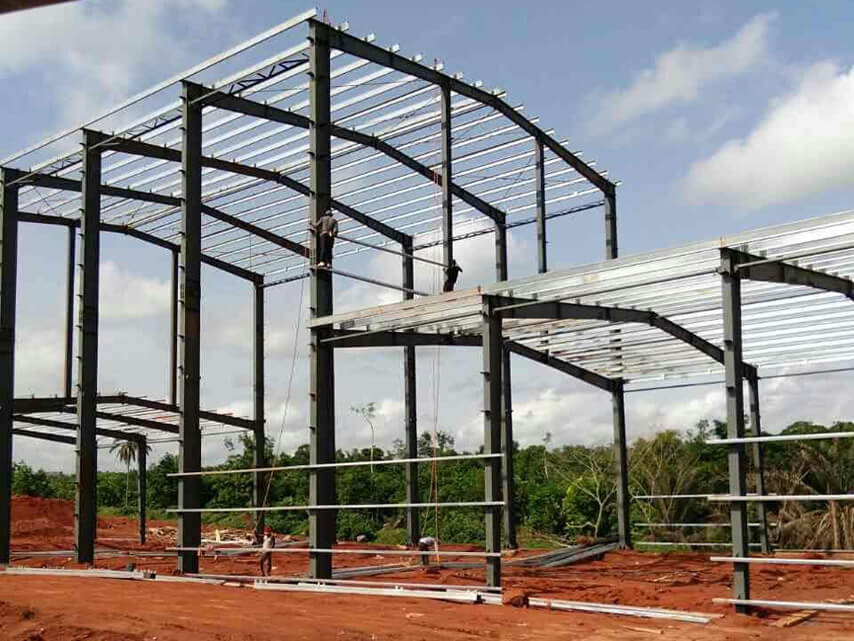 Steel Structure Rice Processing Plant Frame