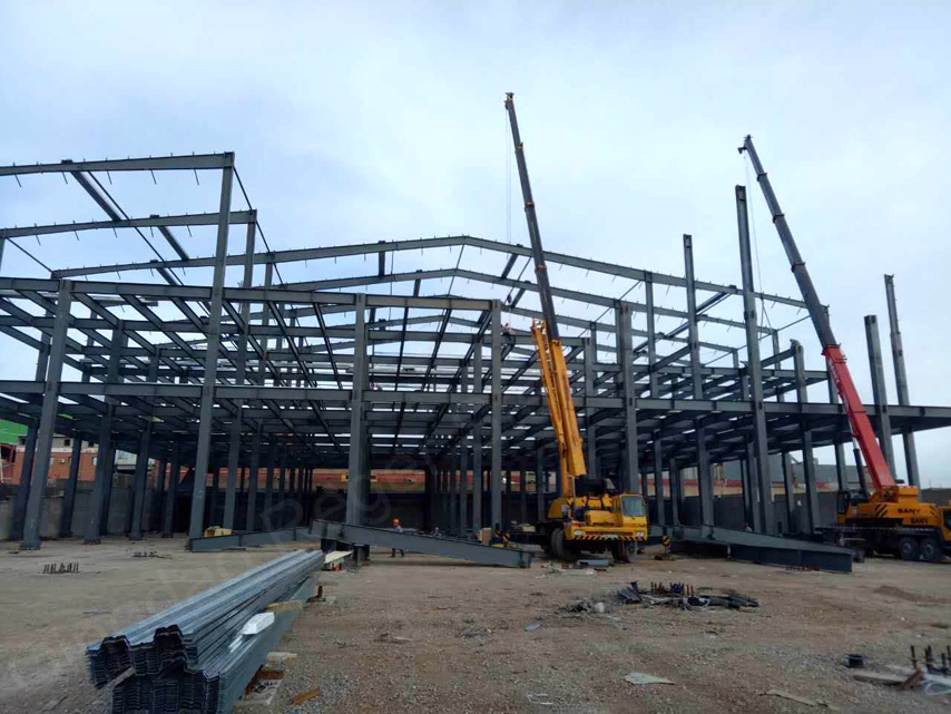steel structure frame of factory building