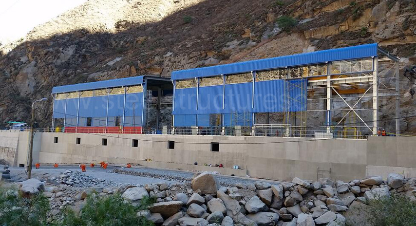 installation of Peru steel structure project for Hydropower station 2