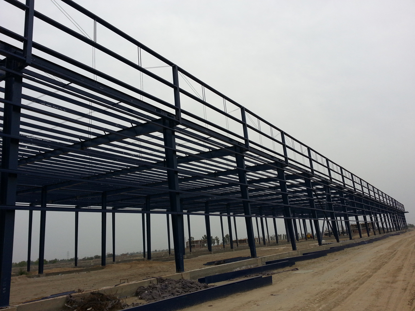steel frame of plant building