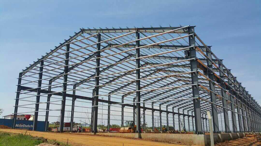 Steel Frame of Prefabricated Steel Structure Warehouse in Uganda