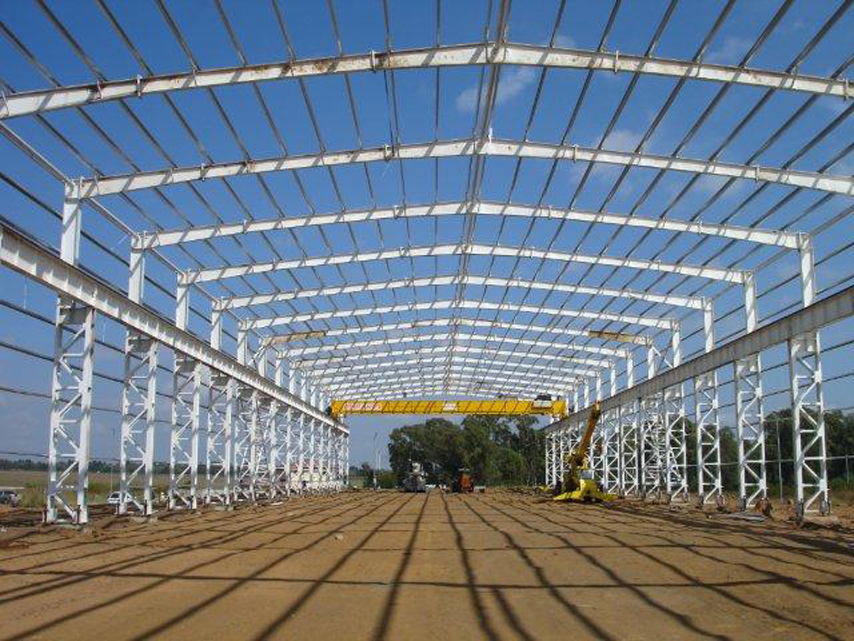 South Africa Heavy-duty Steel Structure Workshop Project Steel Frame
