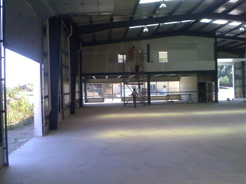 Structural Steel Warehouse inside
