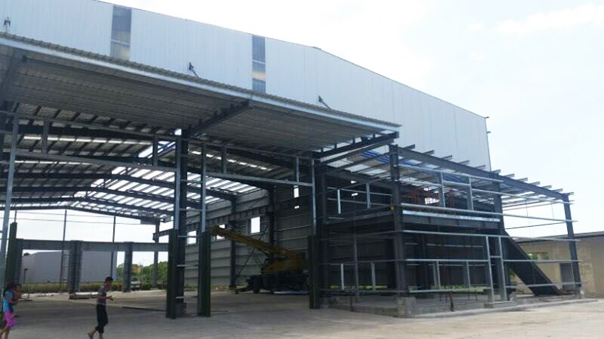 Malaysia Steel Structure Prefab Warehouse and office Project