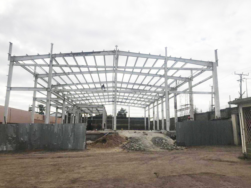 Structural Steel Frame of Car Showroom